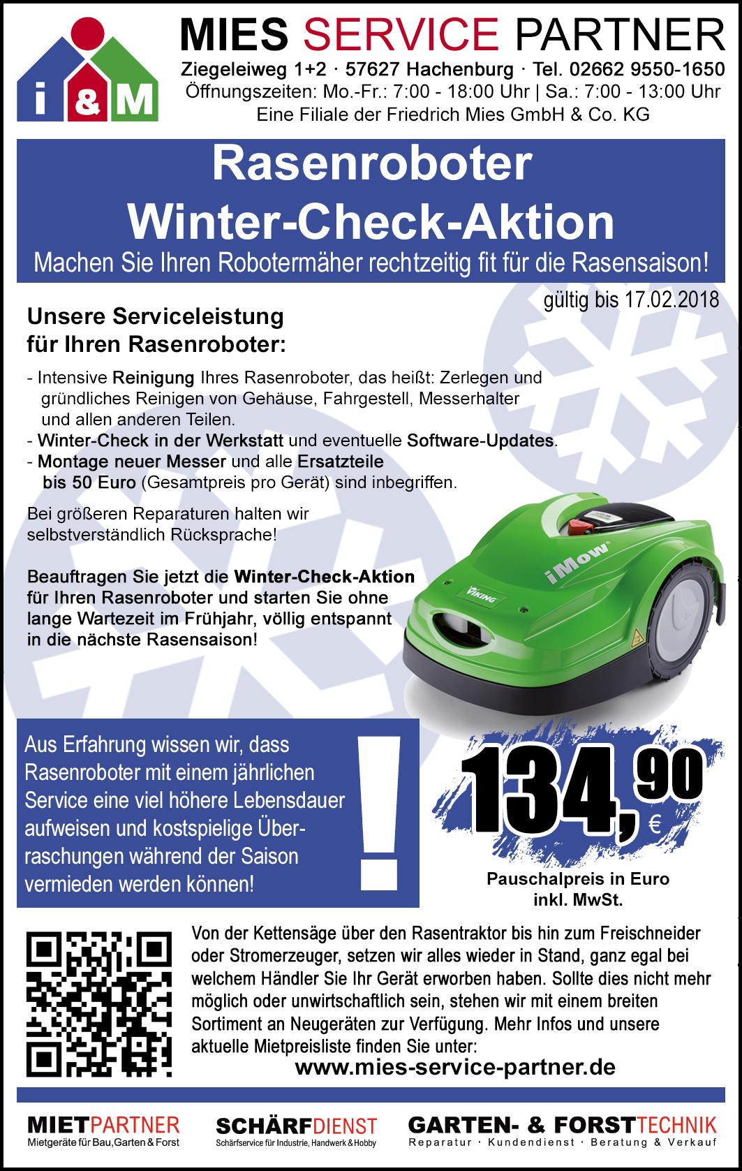 rasenroboter winter-check-aktion - mies service partner